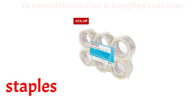 "Staples® Ultra Heavy Duty Shipping Tape, 1.88"" x 54.6 Yds, Clear, 6/Rolls"