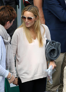Photos: Novak Djokovic's pregnant wife Jelena shows off baby bump