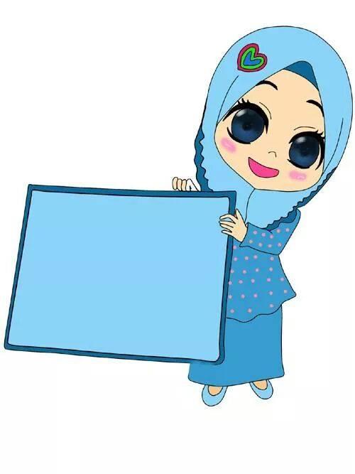 Wallpaper Cartoon Islamic Girl Teaching Aids Doodles Cikgu Perempuan