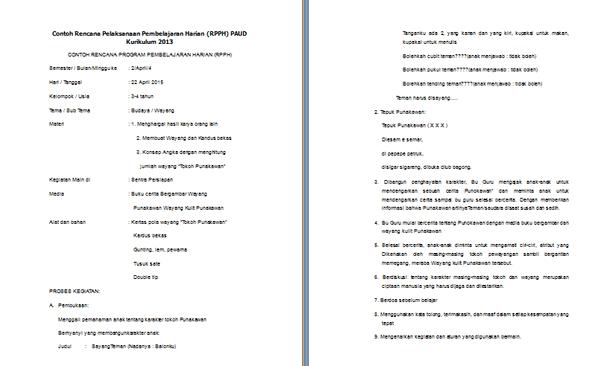Administrasi Pembelajaran Guru PAUD Kurikulum 2013