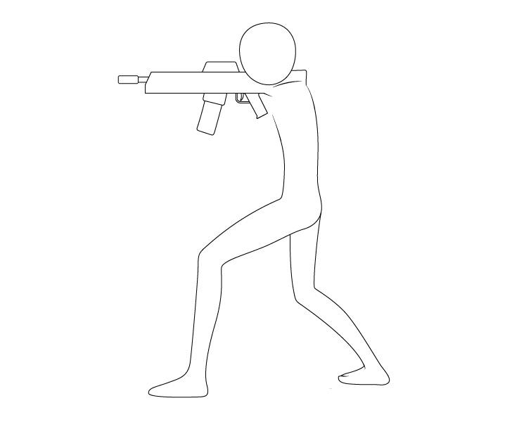 Anime bertujuan menggambar pistol