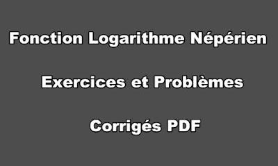 Fonction Logarithme Népérien Exercices et Problèmes Corrigés PDF