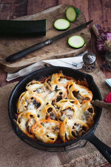 Conchiglioni aux légumes et mozzarella