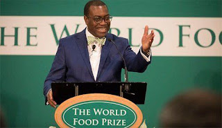 The World Food Prize 2017 goes to Dr. Akinwumi Adesina, former Minister of Agriculture of Nigeria