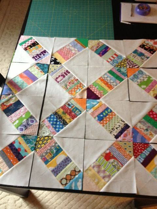 Prevent Bowing When Sewing Quilt Strips Together - Tutorial