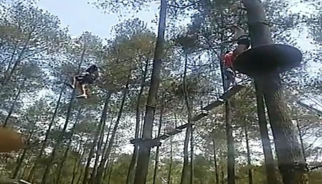 Flying fox treetop adventure park