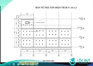 Bản vẽ xây dựng nhà yến 5x12x2 (Nguồn chuyên đề nông nghiệp và phát triển nông thôn).