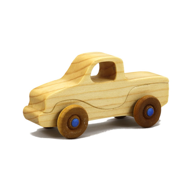 Handmade Wooden Toy Truck Itty Bitty Mini Jimmie Pickup Play Pal Pocket Size 768257503