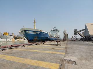 النقل تستقبل عددا من السفن والناقلات على أرصفة ميناء أم قصر
