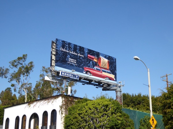 Deliver holiday cheer Makers Mark billboard