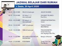Materi Belajar Dari Rumah Bersama  TVRI Senin 20 April 2020