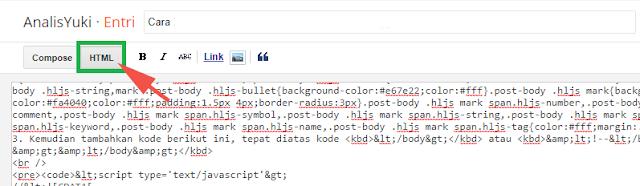 Cara Memasang Syntax Highlighter Terbaru di Blogger