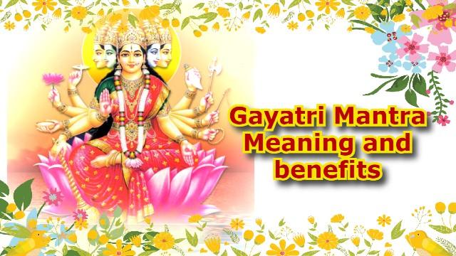 gayatri mantra meaning benefits