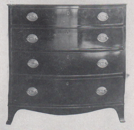 hepplewhite style chest of drawers