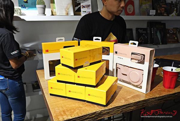 Camera boxes, Kodak Ektra present Stories of Change art opening. Street Fashion Sydney, New York Edition photographed by Kent Johnson.