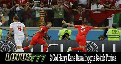 2 Gol Harry Kane Bawa Inggris Bekuk Tunisia