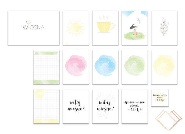 Wiosenne karty do Project Life za darmo