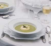 Asparagus Soup recipe with Parmesan Custards