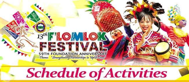 Flomlok Festival 2016 Schedule of Activities