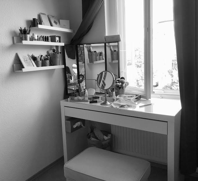 Malm Schminktisch Frisiertisch Organisation Aufbewahrung Hack IKEA
