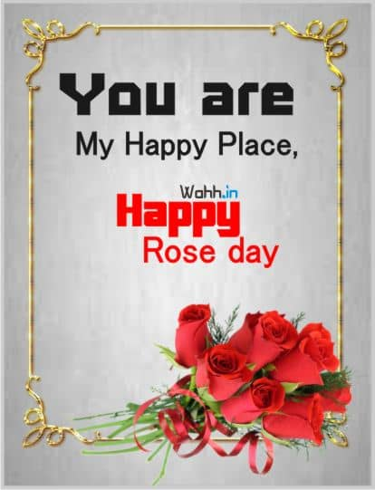 Rose Day Status in Hindi For Girlfriend