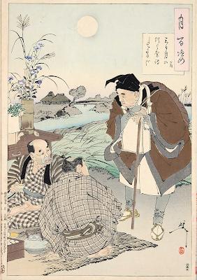 Bashō at autumn moon festival,  Yoshitoshi