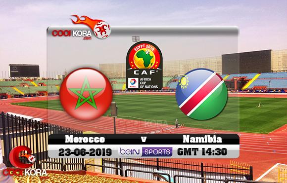 مشاهدة مباراة المغرب وناميبيا اليوم 23-6-2019 علي بي أن ماكس كأس الأمم الأفريقية 2019