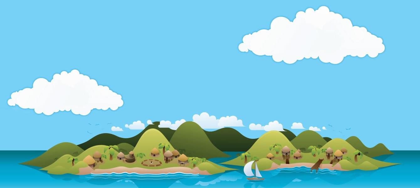 Graafix!: Vector Cartoon Island Wallpaper