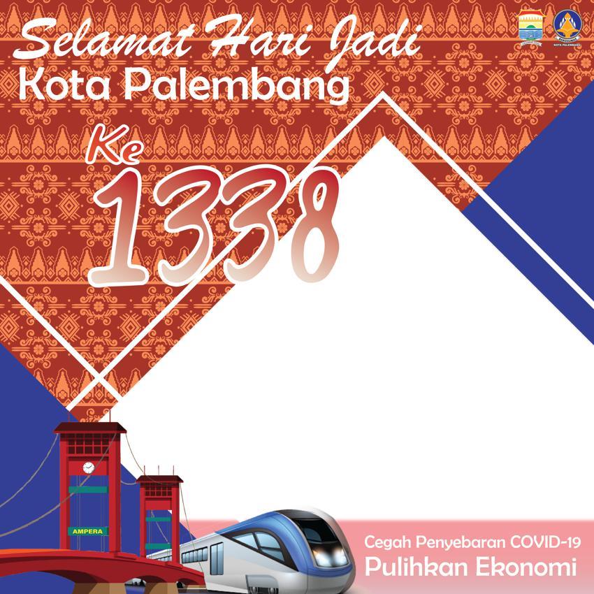 Link Download Bingkai Twibbon Selamat Hari Jadi Kota Palembang ke-1338 Tahun 2021