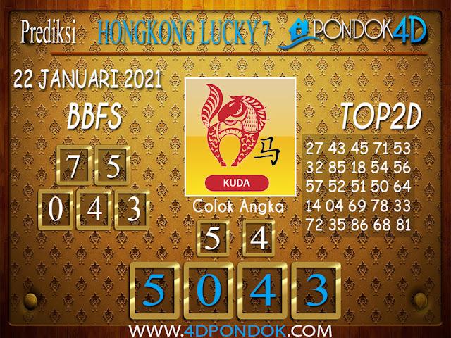 Prediksi Togel HONGKONG LUCKY 7 PONDOK4D 22 JANUARI 2021
