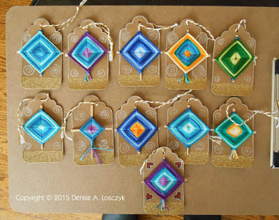Gods Eye Gift Tag Ornaments