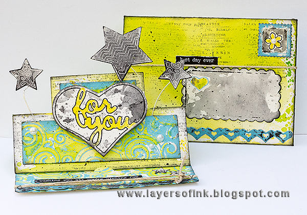 Layers of ink - Summertime Standups Card Tutorial by Anna-Karin, with Sizzix Inksheets and dies by Stephanie Barnard