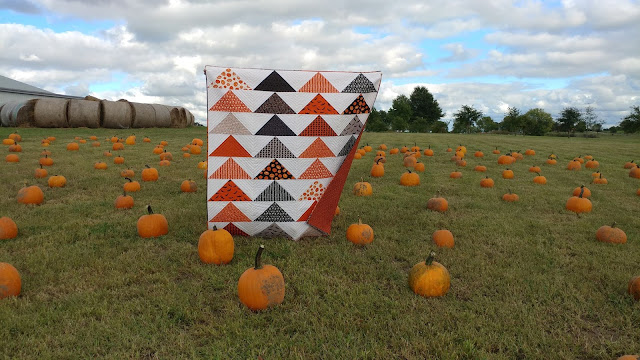 Jumbo Flying Geese Halloween quilt