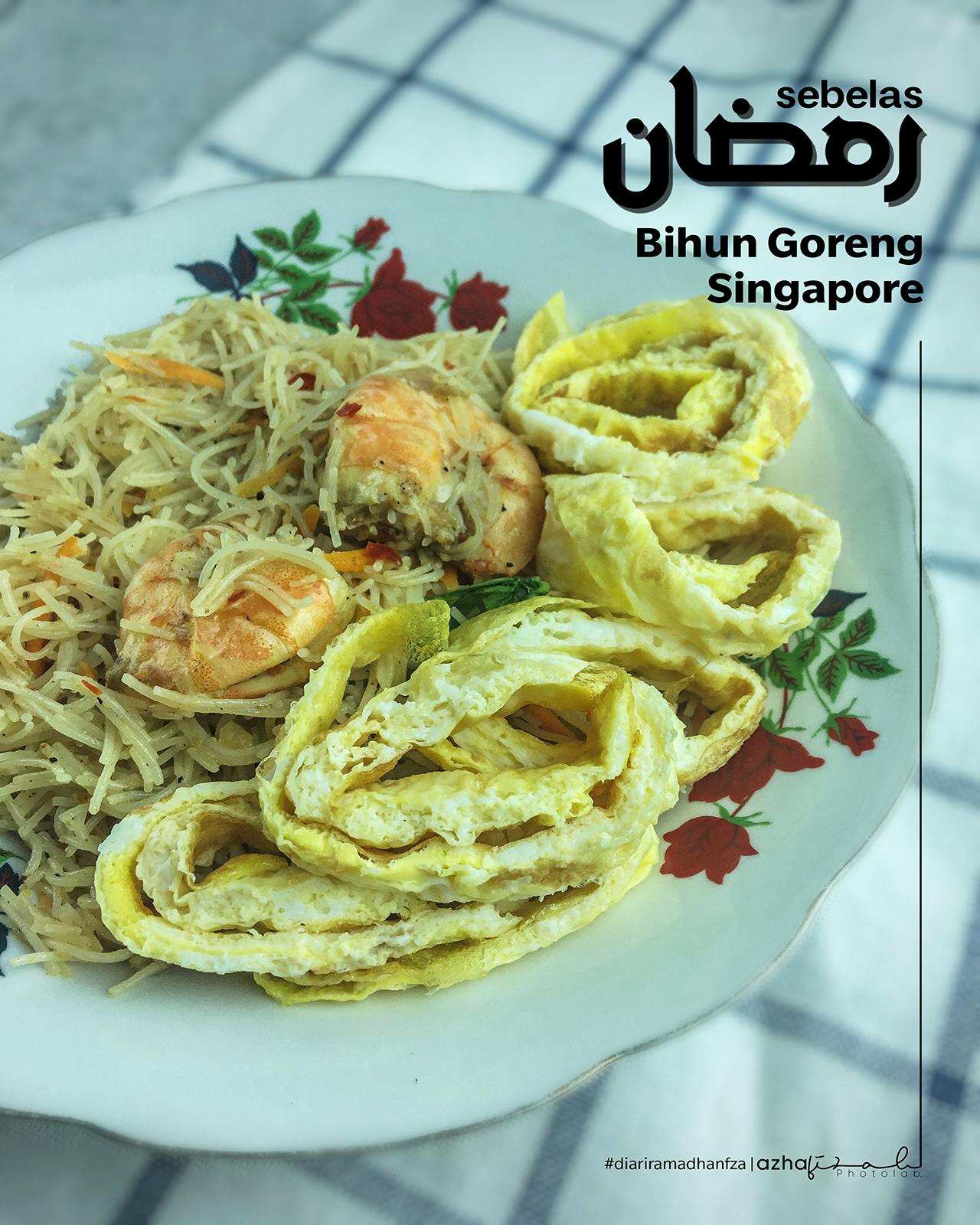 Resepi Bihun Goreng Singapore Masak Cara Fiza