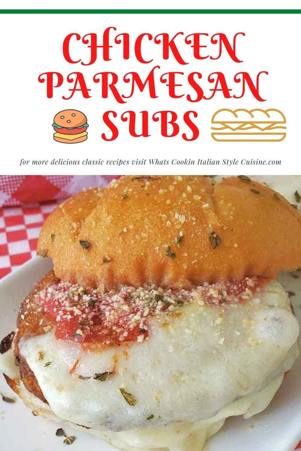 this is a pin for later how to make chicken parm subs