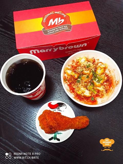 Marrybrown MB Mala Fried Chicken Porridge Set Menu