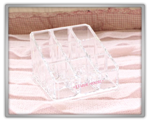 Etude House Haul Review accessories decor kawaii cute pink ebay beauty korean cosmetics Lipstick holder 2