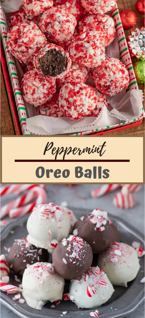 Peppermint Oreo Balls #desserts #cakerecipe #chocolate #fingerfood #easy