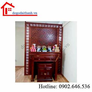 www.123nhanh.com: Bàn gia tiên kết hợp bàn thờ phật chung với gia tiên