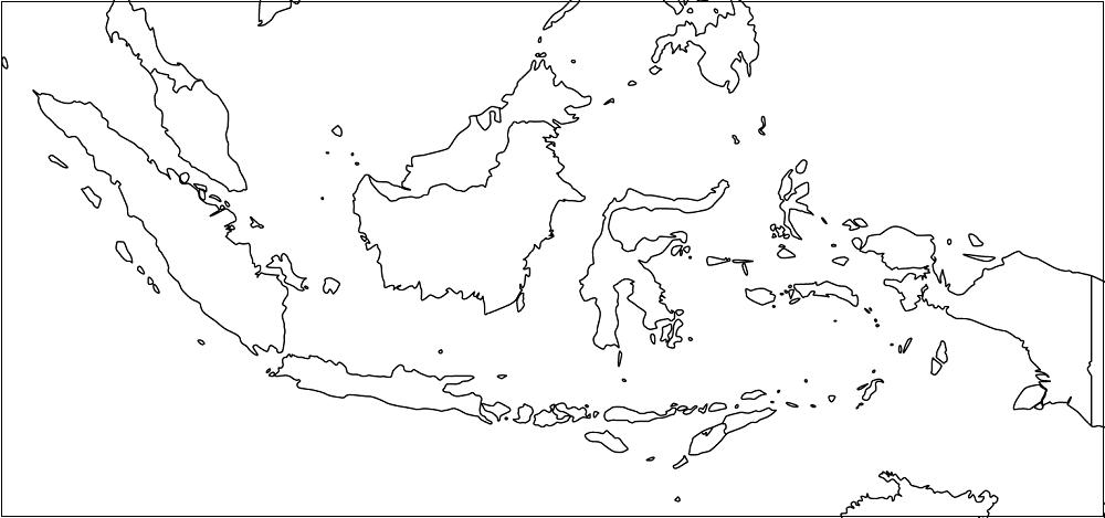 Peta Indonesia Hitam Putih Lengkap