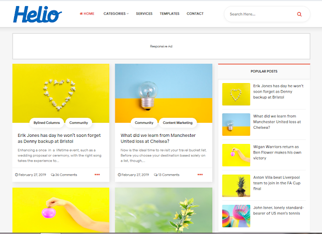 Helio premium template free download