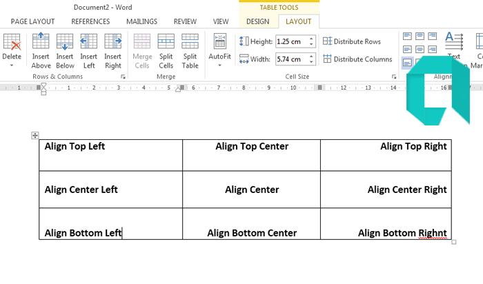 Cara Mengatur Posisi Tulisan Pada Tabel Di MS Word Lengkap
