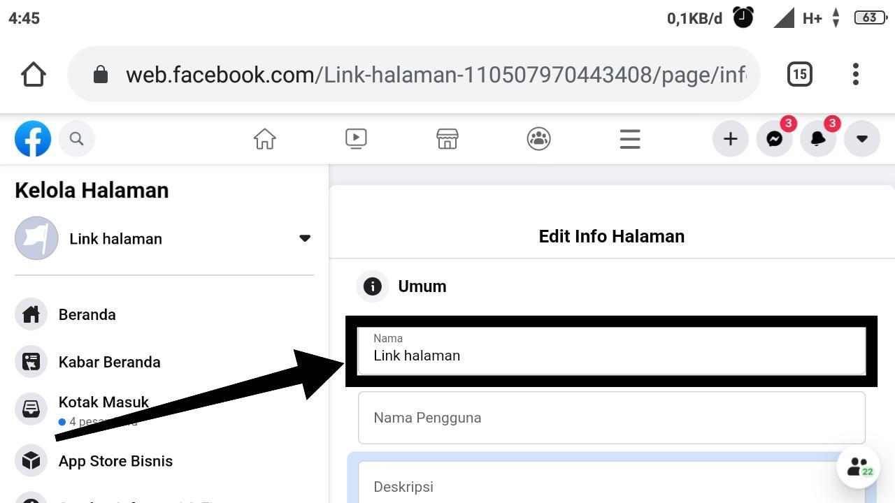 Cara mengganti nama pengguna Facebook yang sudah tidak bisa diganti