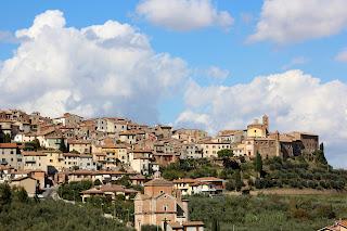 A panorama of Chianciano Vecchia