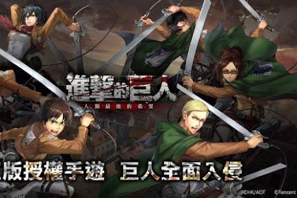 Attack On Titan Bergenre RPG Untuk IOS dan Android
