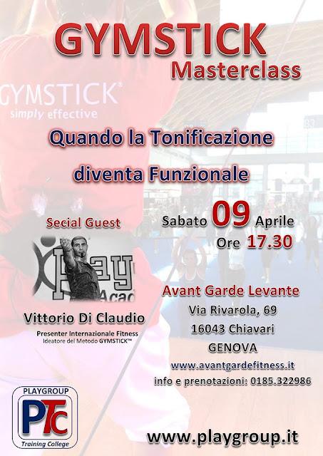 Gymstick masterclass, 09 aprile 2016 a  Chiavari ( GE )
