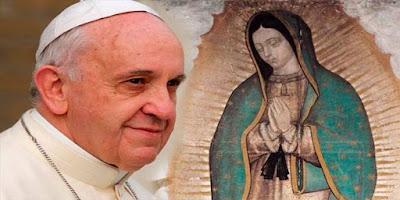 imagem do Papa Francisco e Nossa Senhora de Guadalupe