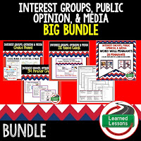 Interest Groups, Media, Civics Mega Bundle, Government Mega Bundle, Civics and Government Curriculum, Anchor Charts, Games, Digital Interactive Notebook, Google Classroom, Word Wall, Choice Boards, Guided Notes, PowerPoints, Test Prep, Document Based Questions