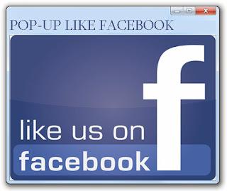 Popup Like Facebook di Blog