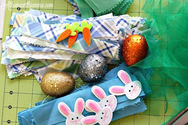 easter, eggs, bunnies, spring, handmade, wreath